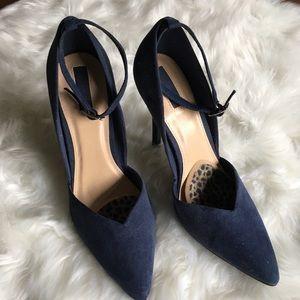 Forever 21 Navy Ankle Strap Stiletto 🌻